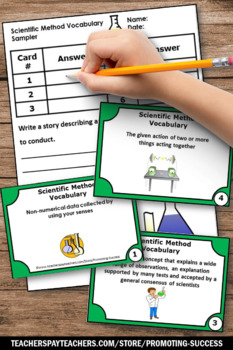 FREE Scientific Method Task Cards 5th 6th Grade Science Distance Learning Games