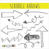 Scribble Arrows Clip Art