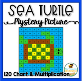 Free Sea Turtle Mystery Picture (120 Chart & Multiplication)
