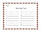 Free Seasonal Spelling Test Form