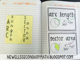 Free Sector Area and Arc Length Foldable