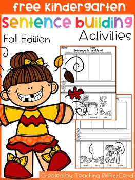 Free Sentence Building (Fall Edition)