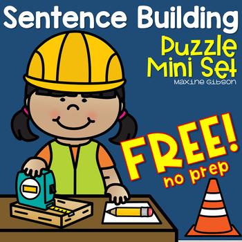 Free Sentence Building Mini Set