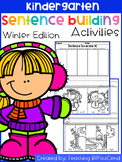 Free Kindergarten Sentence Building (Winter Edition)
