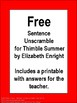 Free Sentence Unscramble Thimble Summer