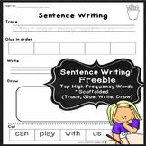 Free Sentence Writing cut & paste sentences