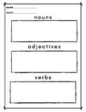 Free Sentence Brainstorming + Writing Worksheet