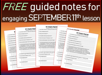 Free September 11th graphic organizer/guided notes/structured notes