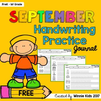 Free September Handwriting Practice Journal