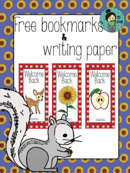 Free September Poster, Bookmarks and Writing Paper!