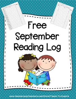 Free September Reading Log
