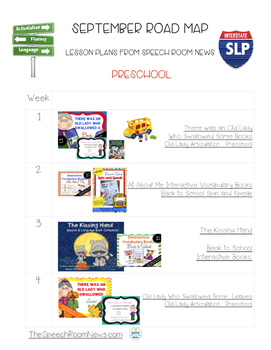 Free September Speech & Language Therapy Lesson Plans