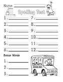 Free September Spelling Test Paper