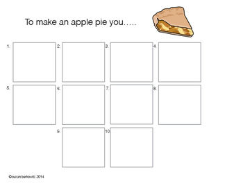 Free Sequencing Activity How to Make an Apple Pie at 2 levels of difficulty