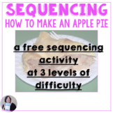 Free Sequencing Activity How to Make an Apple Pie Speech Language Therapy