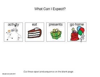 Free Sequencing at a Birthday Party for Speech Therapy or Special Education