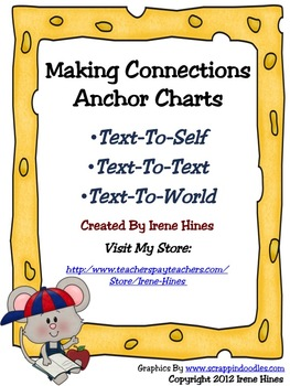 free set of making connections anchor charts by irene hines tpt. Black Bedroom Furniture Sets. Home Design Ideas
