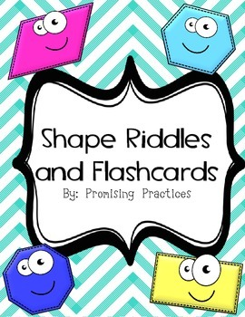 Free Shape Lesson: Flashcard Riddles, Vocabulary, and Student Worksheet