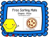 Free Shape Sorting Mats -Pizza
