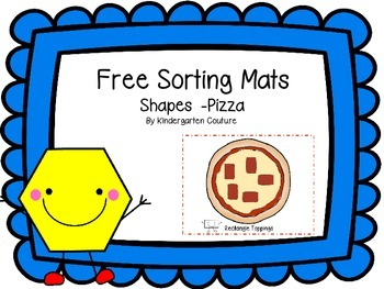 Free Shape Sorting Mats -Pizza