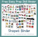 Free Shapes Easy Prep Skill Binder