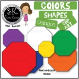 Free Shapes Octagon Clip Art,  Simple Colors
