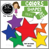 Free Shapes Stars Clip Art, Simple Colors