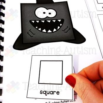 Free Shark Shape Adapted Book, Shark Week