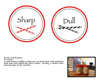 Free Sharp or Dull Labels for Pencil Holders