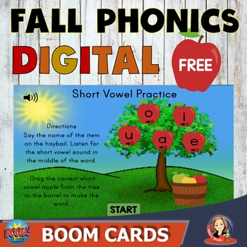 Free Short Vowel Review Digital Boom Task Cards