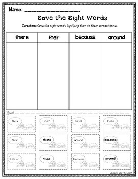 Free Sight Word Activities!
