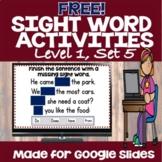 Free Sight Word Activities (Set 5)