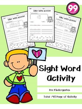 Free Sight Word Activity ( Pre-Primer )