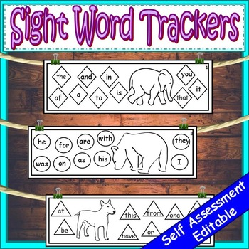 Sight Word Trackers Editable