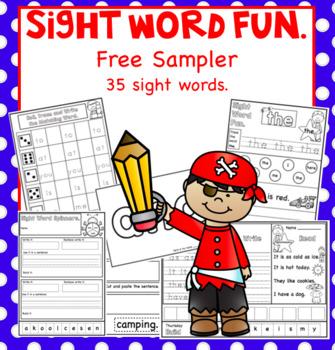Free Sight Word Fun Sampler.