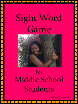 Free Sight Word Game for Middle School Students