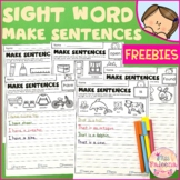 Free Sight Word Make Sentences