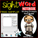Free Sample Sight Word Notebook Writing Prompts First Grade