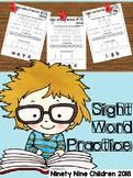 Free Sight Word Practice ( Pre Primer)