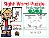 Free Sight Word Puzzle Pre-Primer