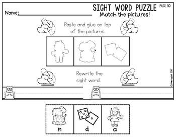 Free Sight Word Puzzle Pre-Primer