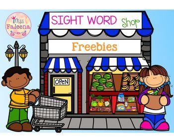 Free Sight Word Shop (Find & Color)