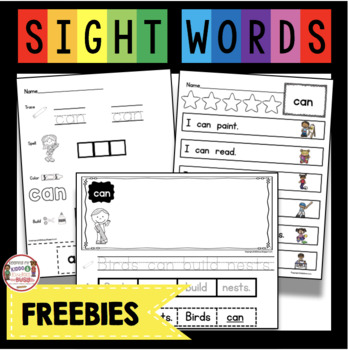 picture relating to Free Printable Sight Word Activities identified as Free of charge Sight Phrase Worksheets and Things to do - Superior Frequency Terms Freebie