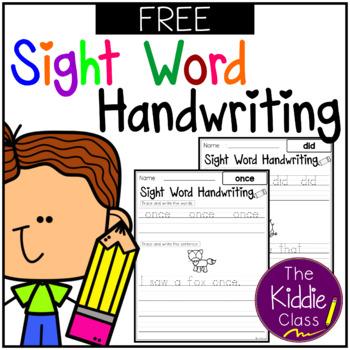 Free Sight Words Handwriting