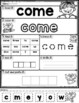 Free Sight Words Practice Pages