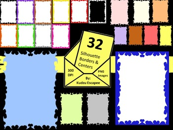 32 Free Silhouette Borders and Centers!