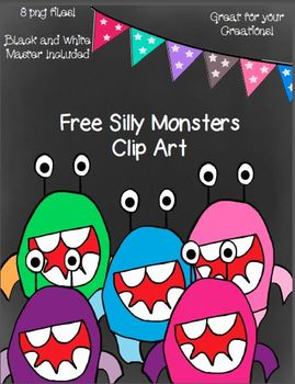 Free Silly Monster Clip Art