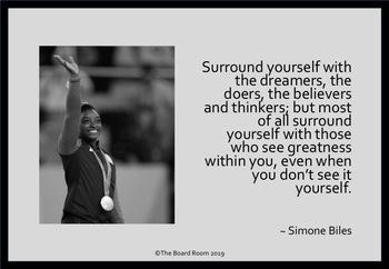 Free Simone Biles Quote Poster