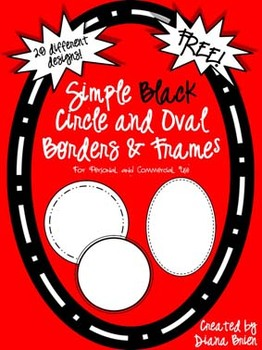 Free Simple Black Circle & Oval Frames & Borders Clip Art for Commercial Use