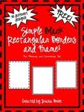 Free Simple Black Rectangular Frames & Borders Clip Art fo